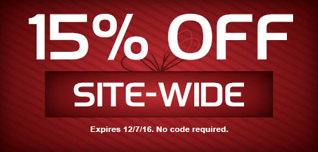 15% Off Site-Wide