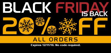 Black Friday is Back! 20% Off Site-Wide