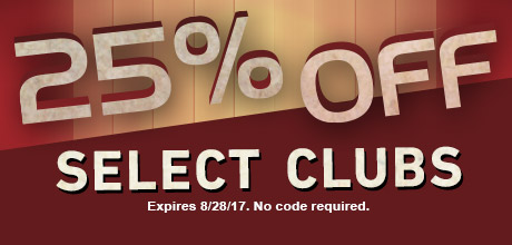 25% Off Select Clubs