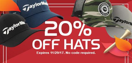 20% Off Hats
