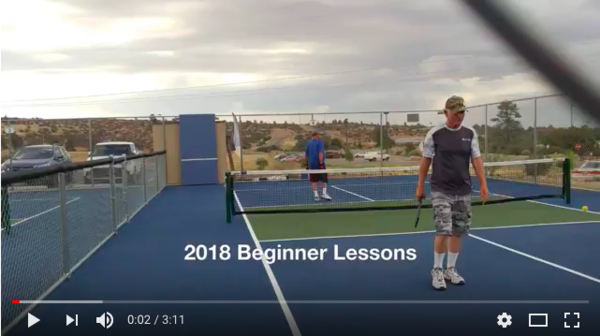 2018 Beginner Pickleball Lessons