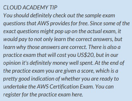 AWS Certification book - tip