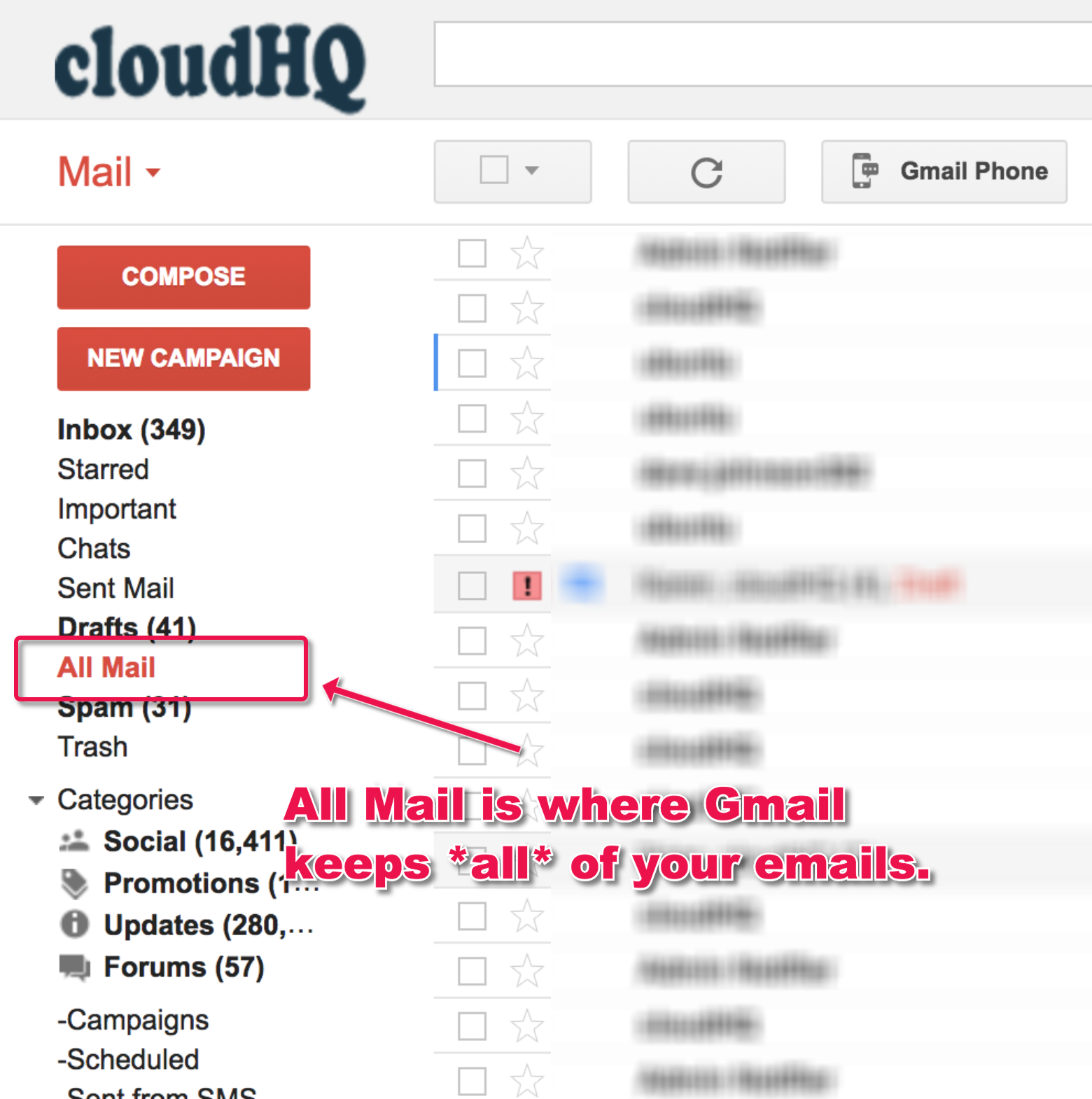 What Is Gmail All Mail And What Is Difference Between Inbox And All Mail Cloudhq Support