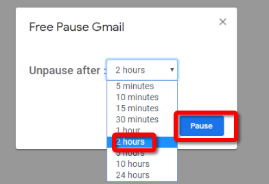 Pause Gmail Select