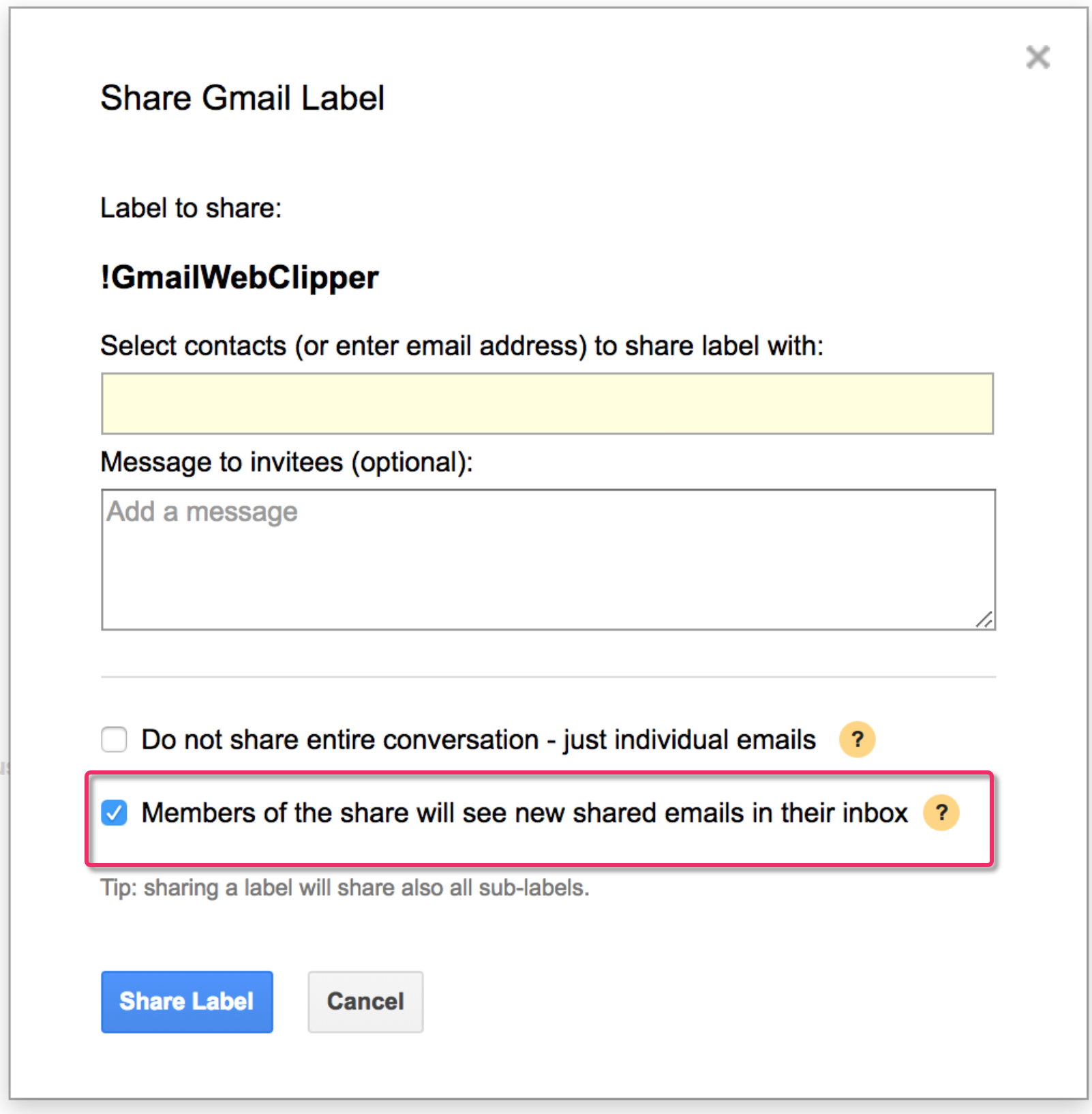 Add Email On Gmail gmail label sharing and adding email to inbox as unread