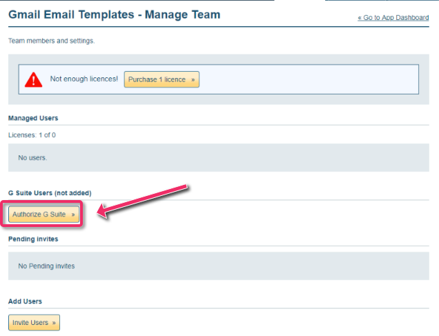 How to add users to Gmail Email Templates for Teams as G
