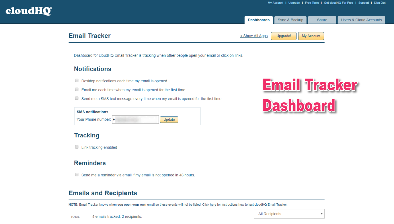 How to manage Email Tracker default settings for
