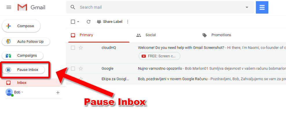 Pause Gmail Pause Button 1
