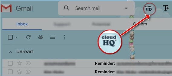 cloudHQ icon in Gmail