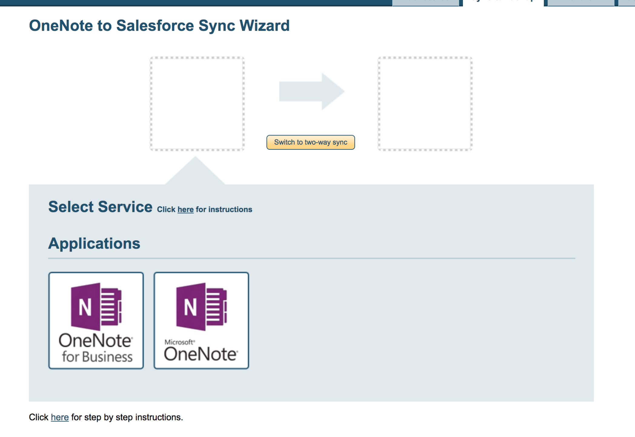 How to integrate OneNote with Salesforce (single user