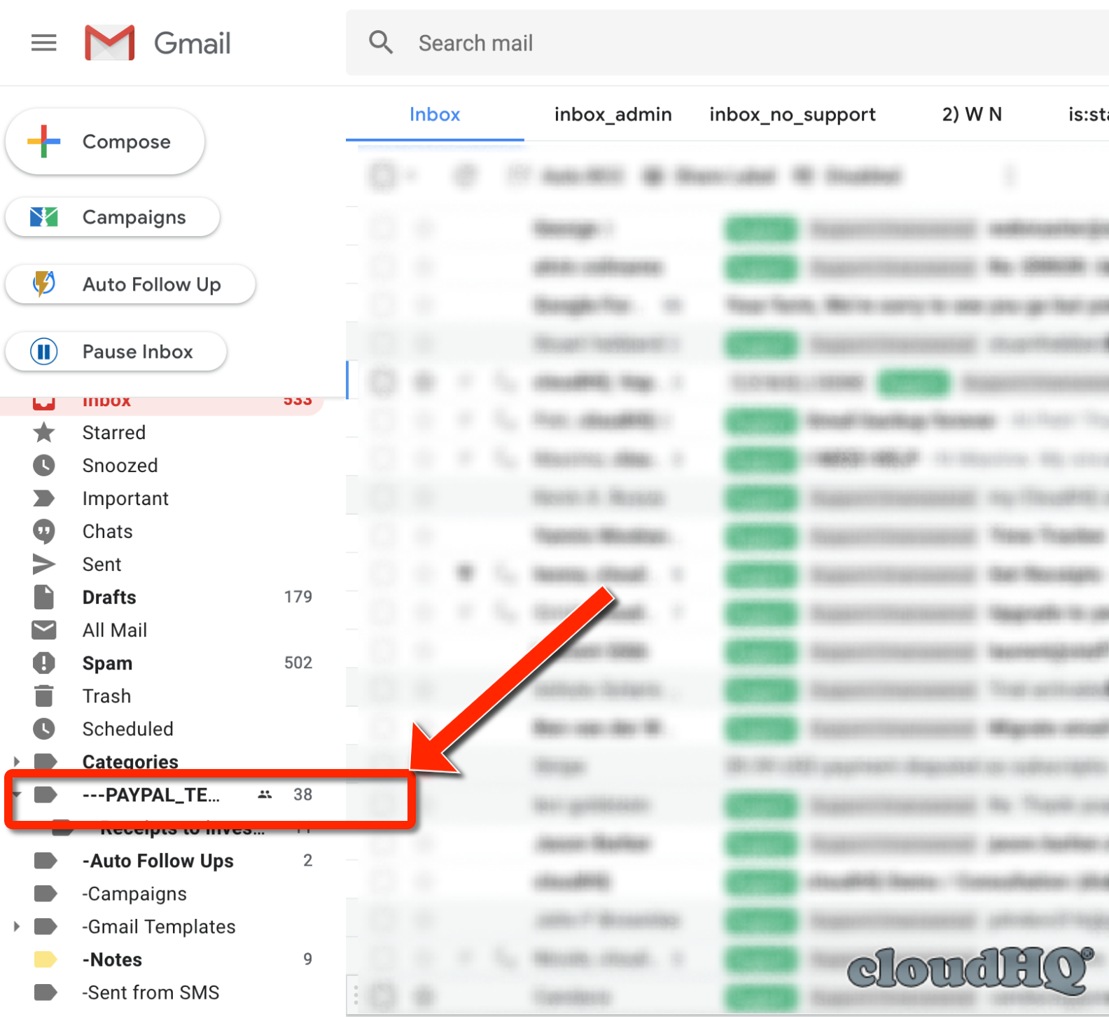 How to forward all emails in the label using Multi Email