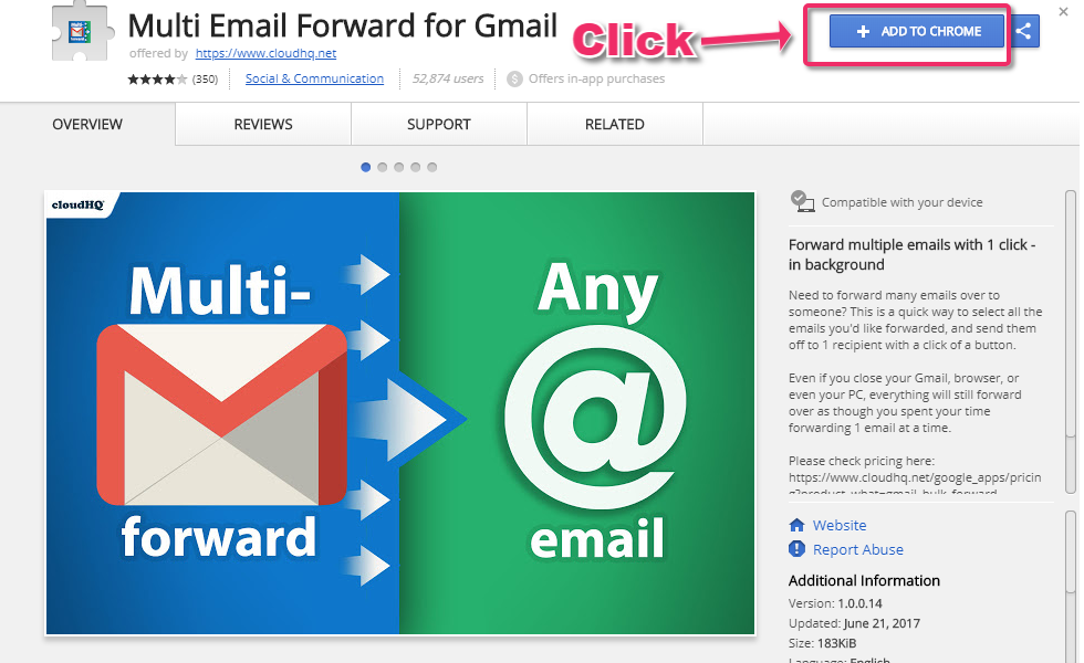 Getting Started with Multi Email Forward – cloudHQ Support