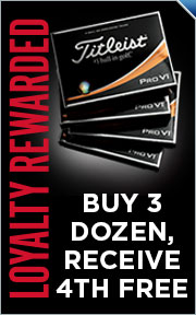Buy 3 Dozen Personalized Titleist Pro V1 / Pro V1x Golf Balls & Get 1 Dozen FREE