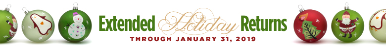Extended Holiday Returns through January 31.