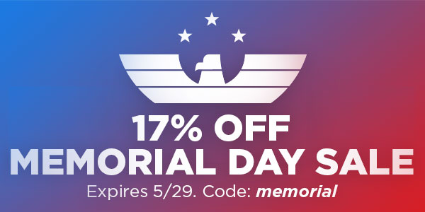 17% Off with code: memorial