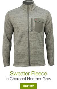 Sweater Fleece in Charcoal Heather Gray