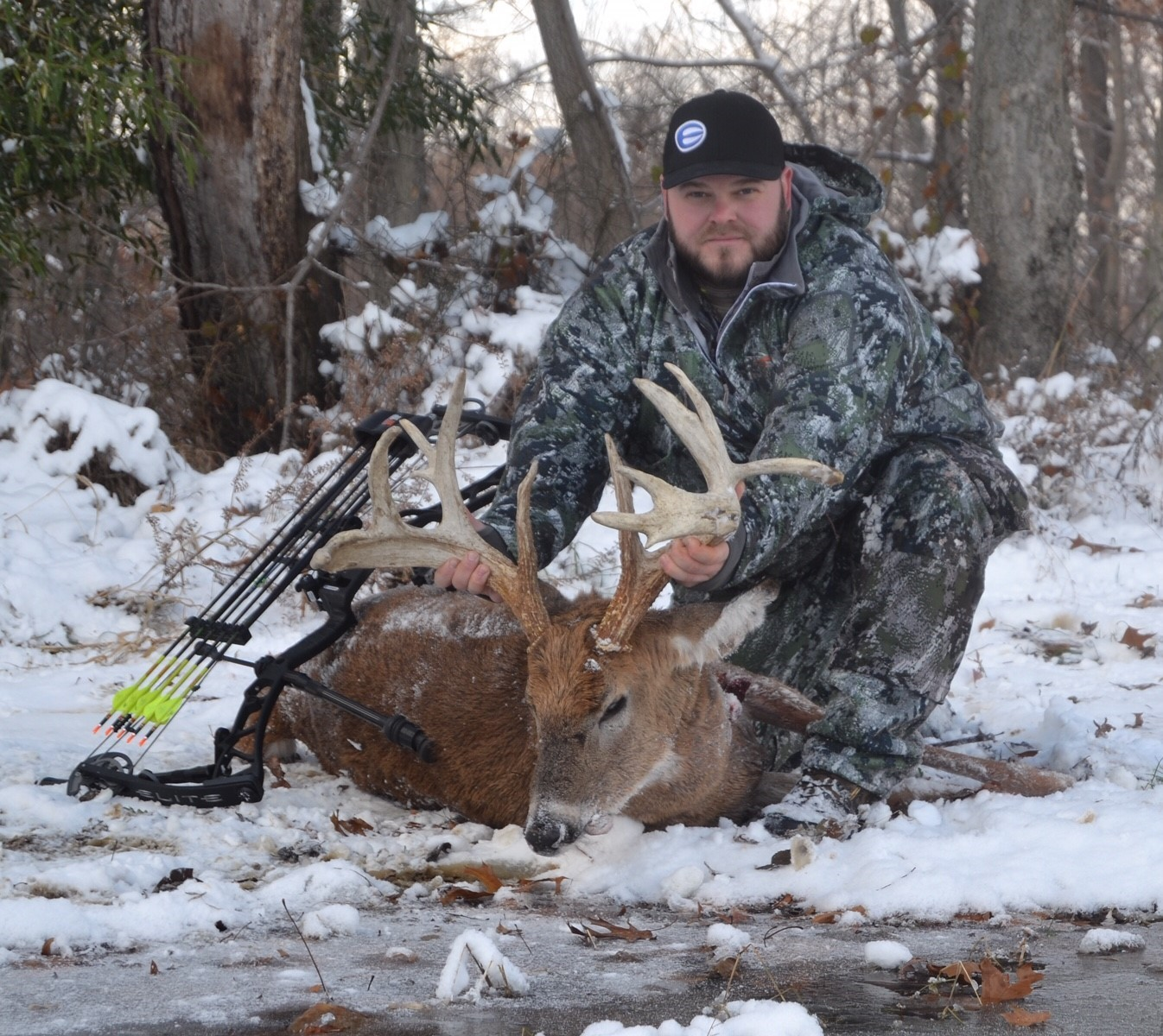 Jim Crissman with whitetail deer