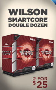 Buy 2 Wilson SmartCore Double Dozen Golf Balls for $25