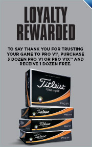 Buy 3 Dozen Personalized Titleist ProV1s & Get 1 Dozen Free