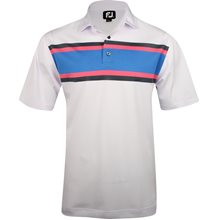 FootJoy Tuscon Pique Multi Color Chest Stripe Previous Season Apparel Style
