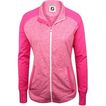 FootJoy Brushed Back Space Dye Full-Zip Mid-layer