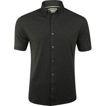 Linksoul Performance Heathered Cotton Blend Button Up