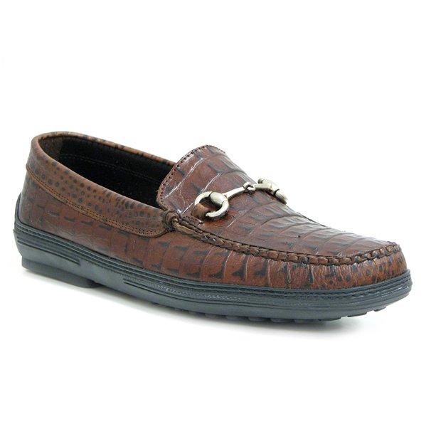 David Spencer Croco Bit Driver Casual Shoes