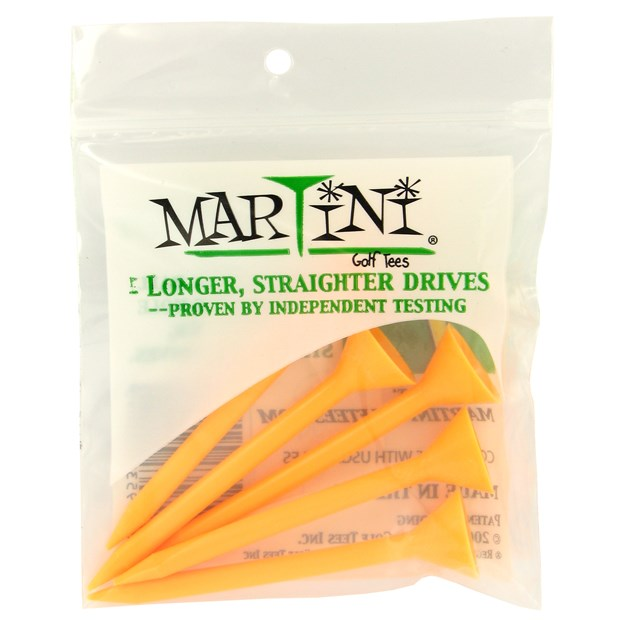Martini 3 1/4 Orange Golf Tees Accessories