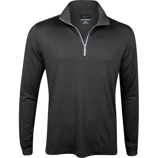 Greg Norman Heathered 1/4 Zip Mock Outerwear Apparel
