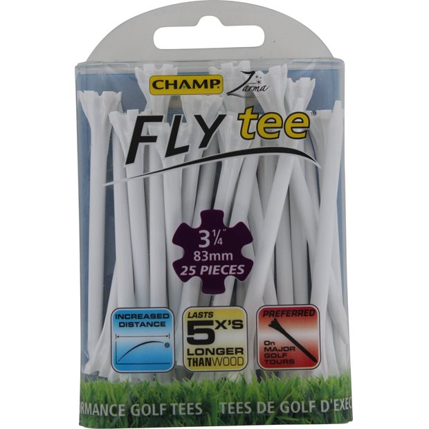 Champ 3 1/4 Zarma Fly Tee Golf Tees Accessories