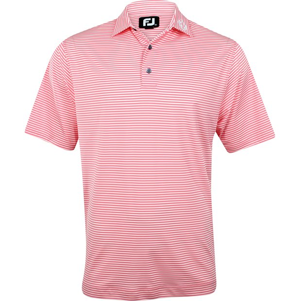FootJoy ProDry Perf. Lisle Feeder Stripe Tour Logo Collar Shirt Apparel
