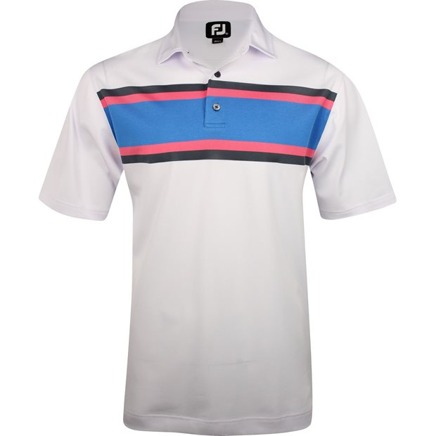 FootJoy Tuscon Pique Multi Color Chest Stripe Previous Season Apparel Style Shirt Apparel