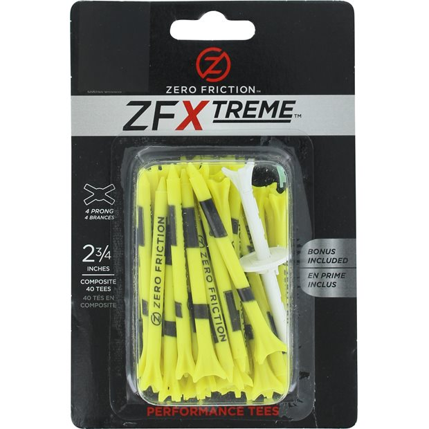"""Zero Friction ZFX 4 Prong 2 3/4""""  Golf Tees Accessories"""