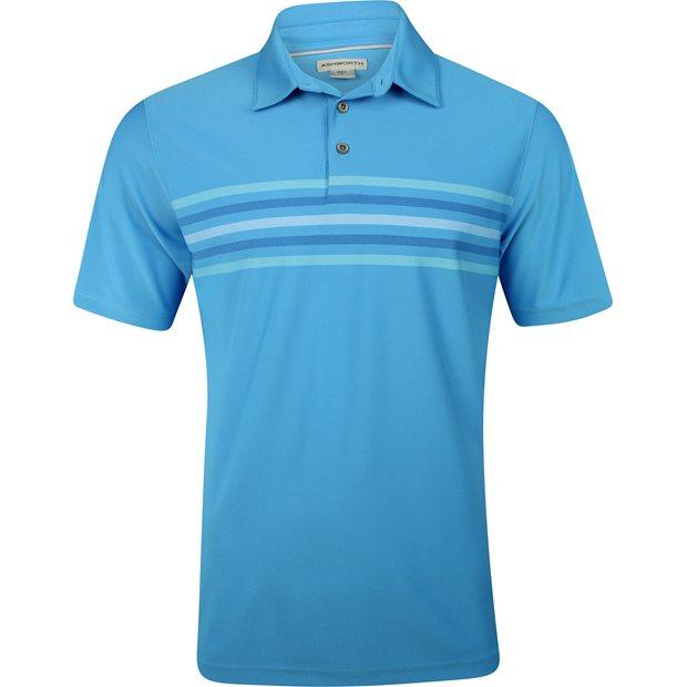 Ashworth Stretch Pique 2-Tone Chest Stripe Shirt Apparel
