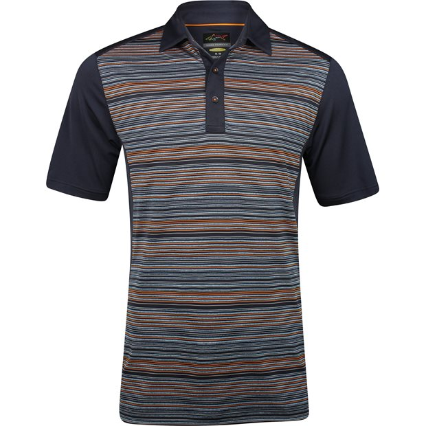Greg Norman Heathered Stripe Golf Shirt Apparel