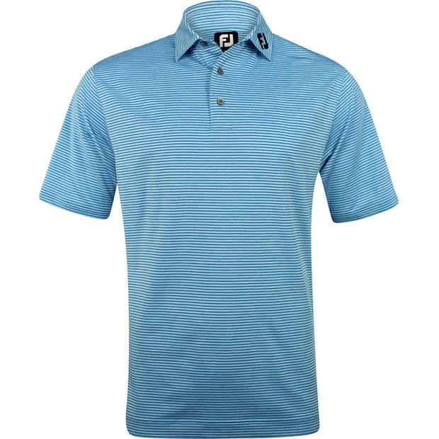 FootJoy ProDry Performance Heather Pinstripe Tour Logo Shirt Apparel