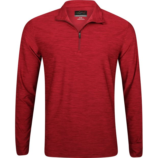 Greg Norman 1/4-Zip Heathered Mock Outerwear Apparel