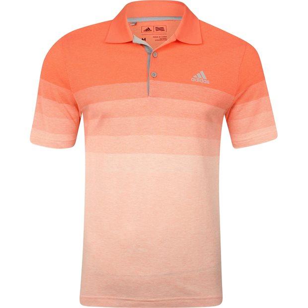 Adidas Gradient Stripe Pique Shirt Apparel