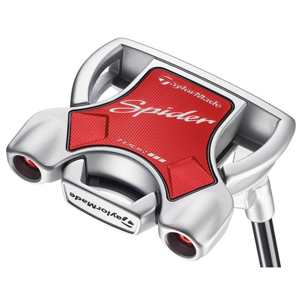 """TaylorMade Spider Tour Diamond Silver """"L"""" Neck Putter Preowned Golf Club"""