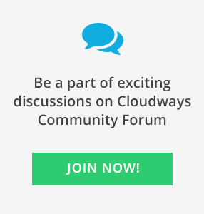Cloudways community