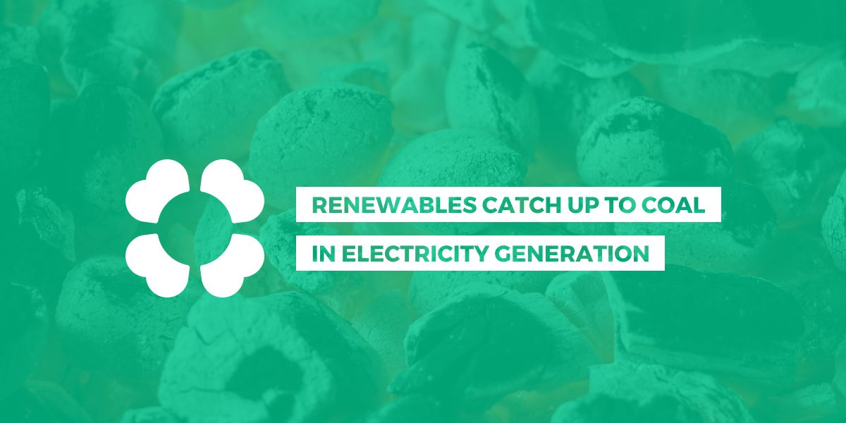 Renewables catch up to coal in electricity generation