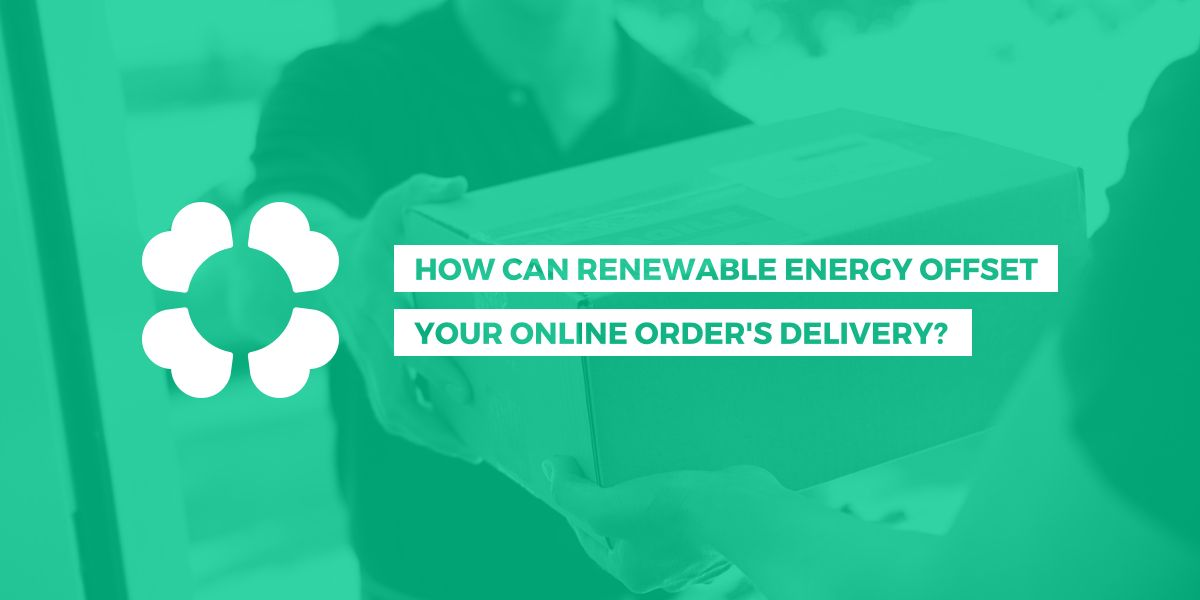 How can renewable energy offset your online order's delivery?