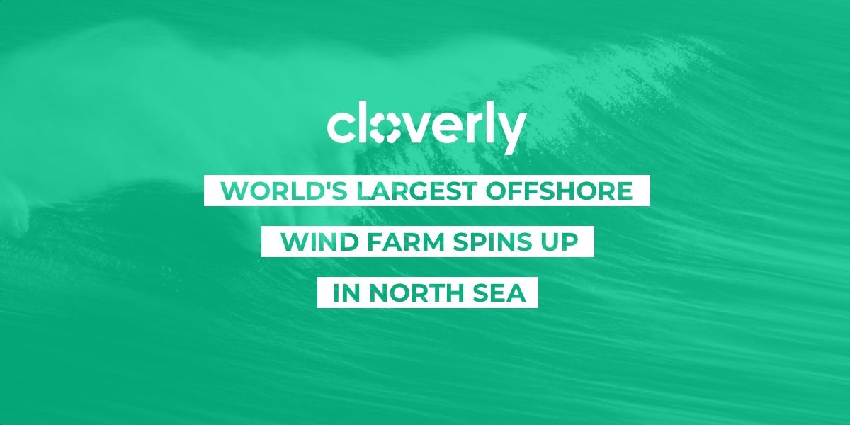 World's largest offshore wind farm spins up in North Sea