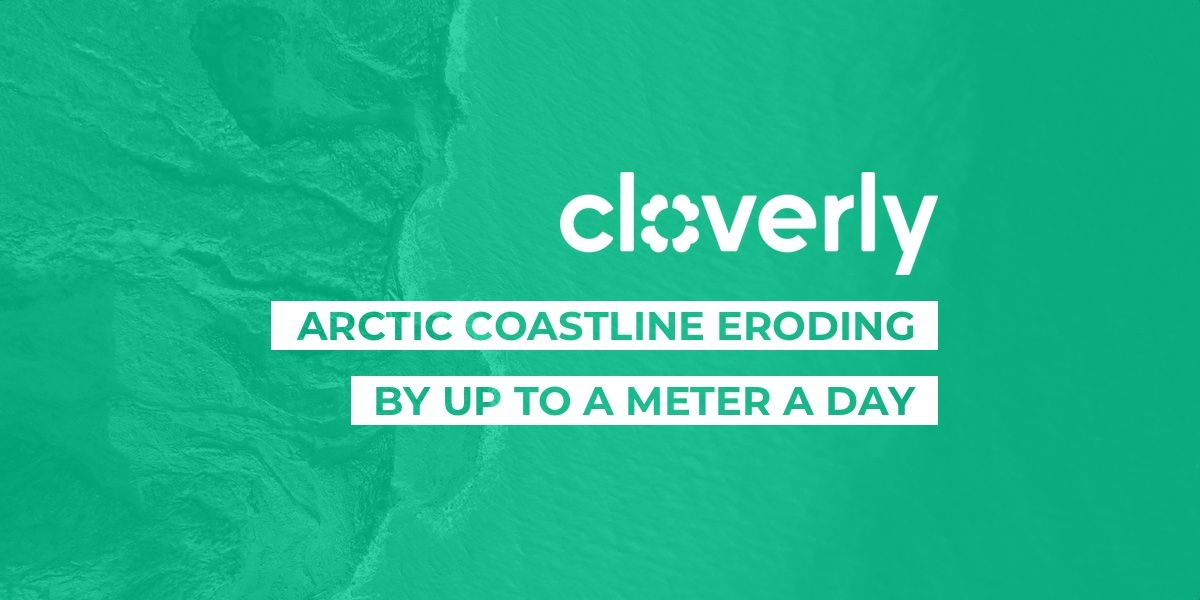 Arctic coastline eroding by up to a meter a day