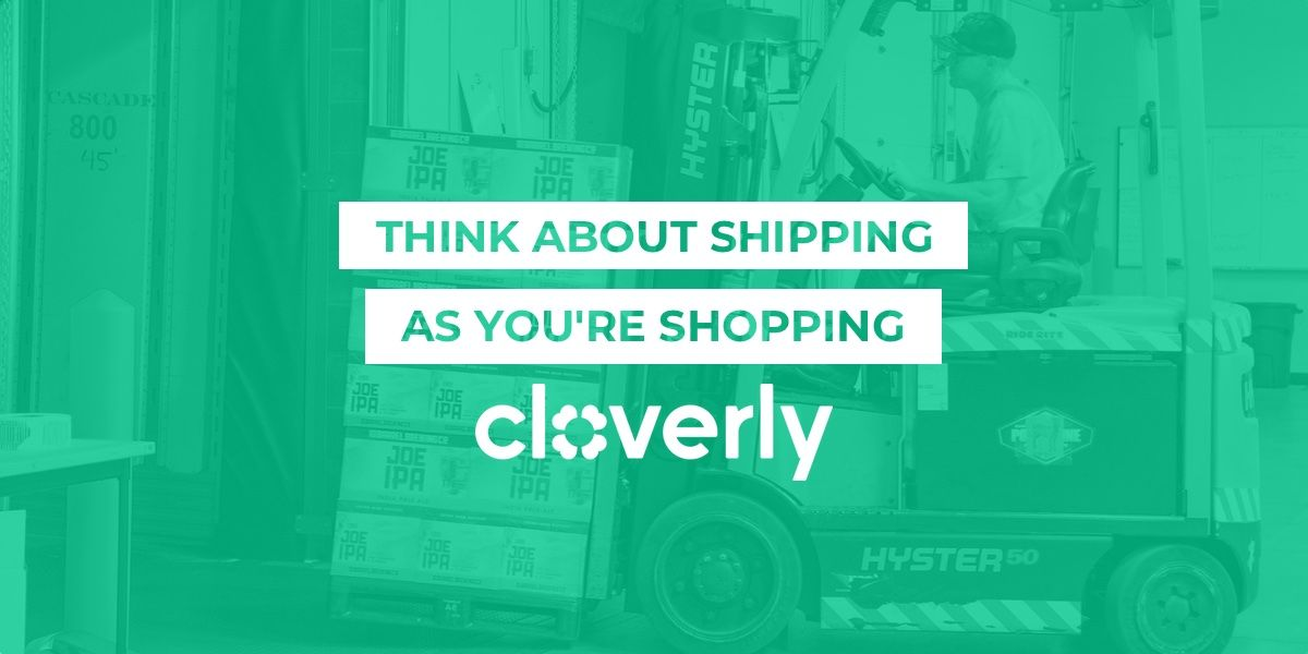 Think about shipping as you're shopping