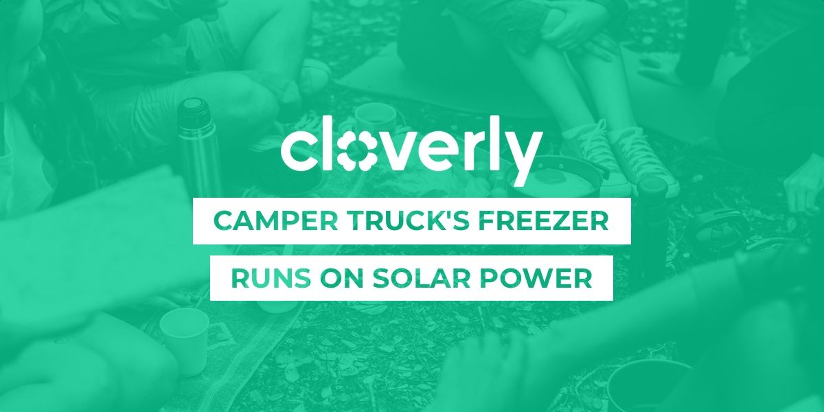 Camper truck's freezer runs on solar power