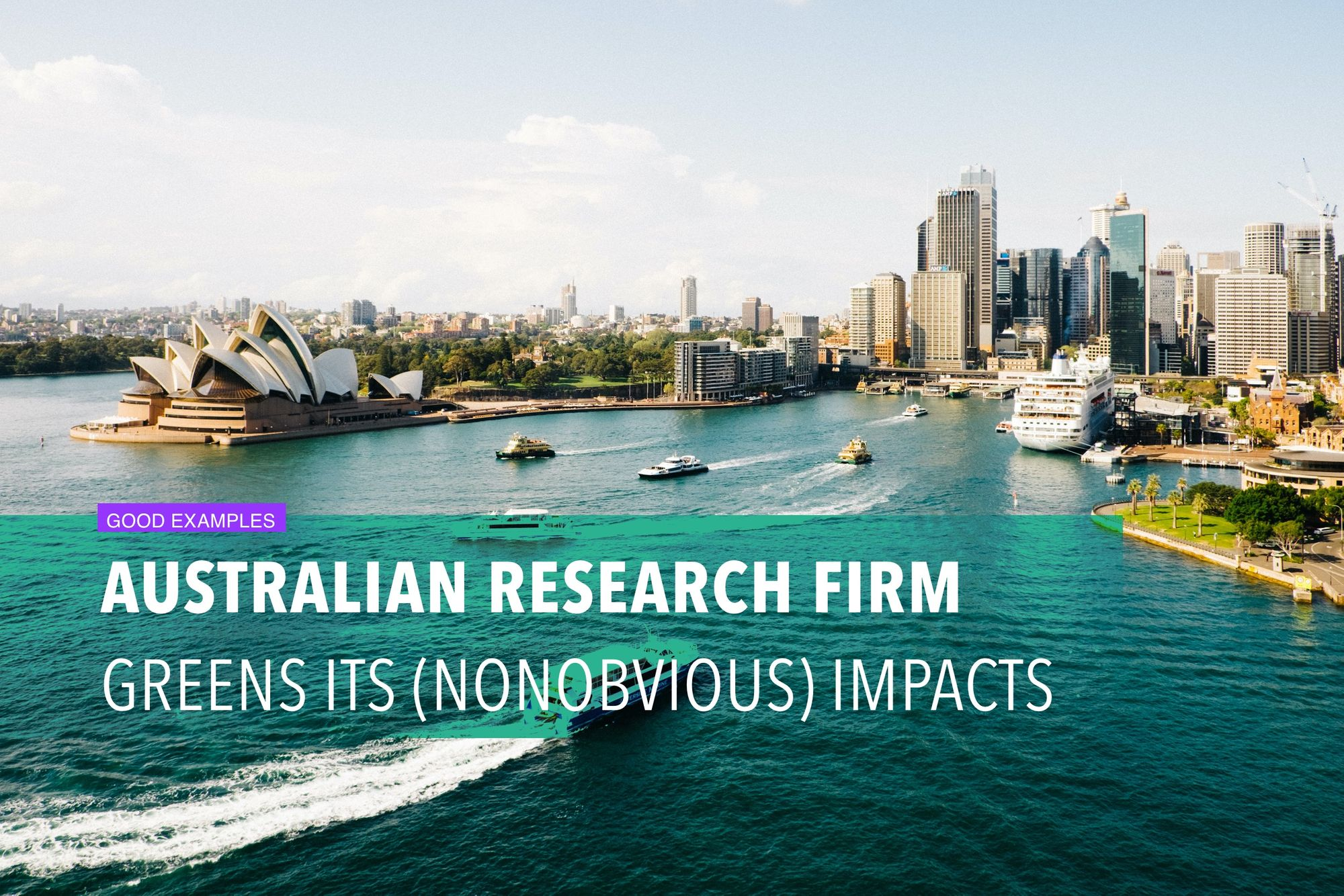 Australian research firm greens its (nonobvious) impacts