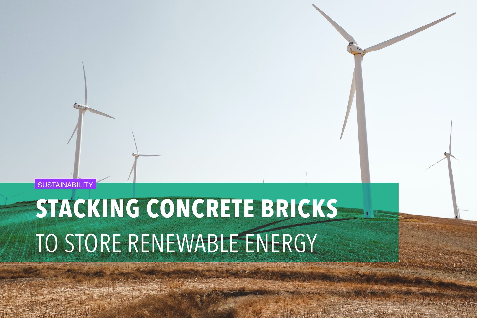 Stacking concrete bricks to store renewable energy