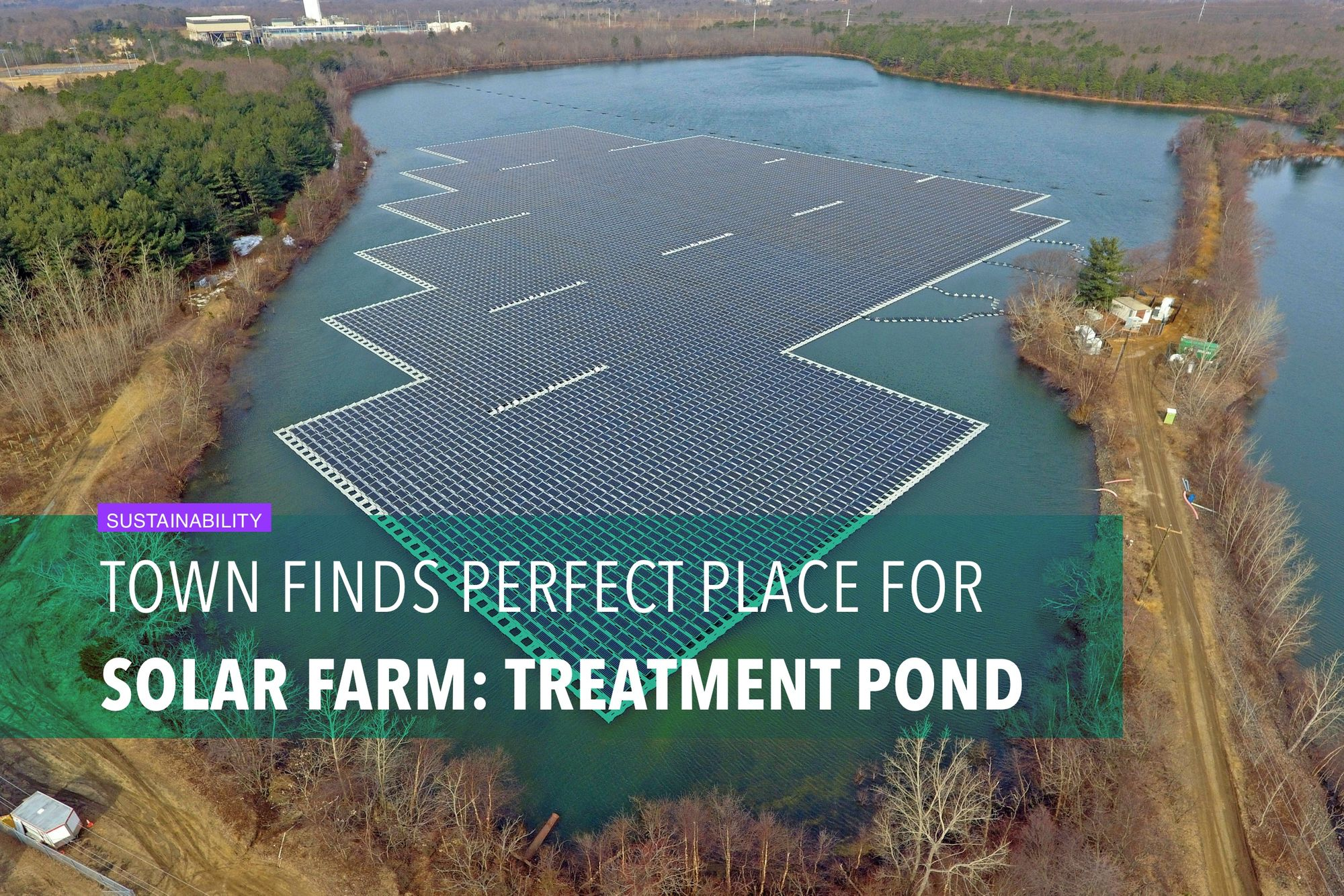 Town finds perfect place for solar farm: water treatment pond