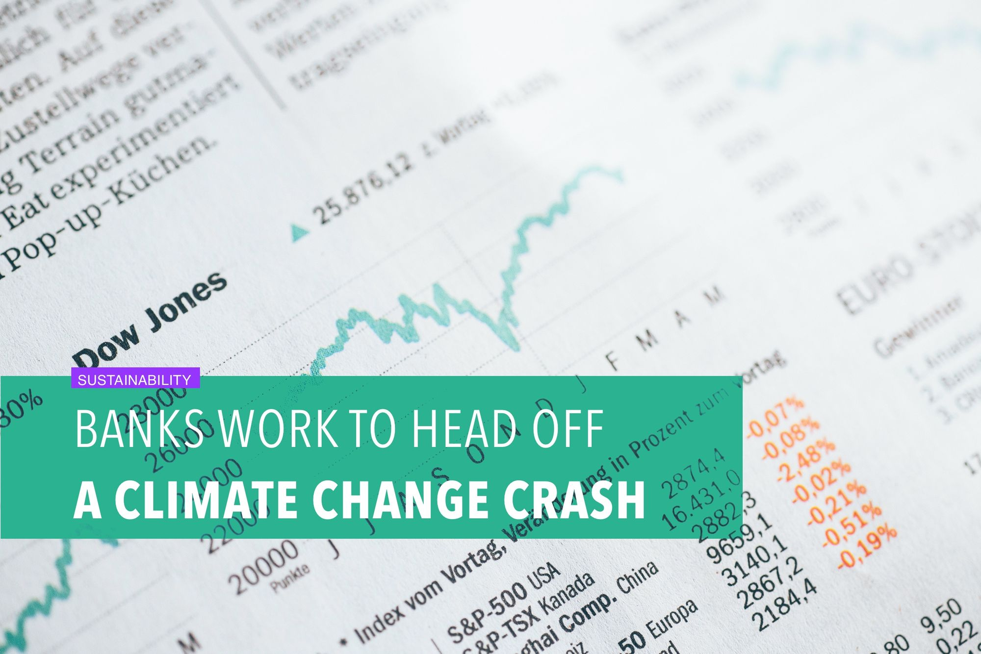 Banks work to head off a climate change crash